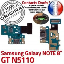 Contacts Nappe Connecteur de N5110 OFFICIELLE Micro ORIGINAL USB Samsung GT-N5110 Galaxy Charge GT Qualité NOTE Chargeur Doré C Réparation