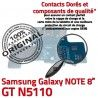 Samsung Galaxy GT-N5110 NOTE C Qualité Doré OFFICIELLE MicroUSB Connecteur Chargeur ORIGINAL Nappe GT Charge de N5110 Contact Réparation