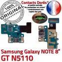 GT-N5110 Micro USB NOTE Charge Doré Galaxy Connecteur Samsung de MicroUSB Qualité Nappe GT ORIGINAL OFFICIELLE N5110 Contact Réparation Chargeur