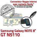 GT-N5110 Micro USB NOTE Charge GT Chargeur de N5110 OFFICIELLE Connecteur Contact Réparation Samsung Doré Galaxy Nappe MicroUSB ORIGINAL Qualité