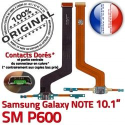 P600 de Galaxy NOTE Qualité Connecteur Charge Doré MicroUSB OFFICIELLE Contact Nappe SM-P600 Micro Samsung Pen USB ORIGINAL SM Réparation Chargeur