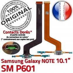Qualité MicroUSB SM Doré Samsung Connecteur Chargeur Galaxy Charge NOTE SM-P601 de Réparation P601 Contacts ORIGINAL Nappe OFFICIELLE C