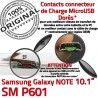 Samsung Galaxy NOTE SM-P601 C OFFICIELLE de ORIGINAL Doré Nappe Charge Connecteur Contacts SM P601 MicroUSB Réparation Qualité Chargeur