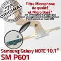SM-P601 Micro USB NOTE Charge Connecteur Réparation Pen P601 Contact ORIGINAL de Samsung Chargeur Qualité SM Doré Galaxy MicroUSB OFFICIELLE Nappe