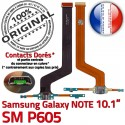 ORIGINAL Samsung Galaxy NOTE SM P605 Nappe OFFICIELLE Qualité Connecteur de Charge Chargeur MicroUSB Contacts Doré Réparation