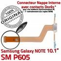 Samsung Galaxy NOTE SM-P605 C OFFICIELLE Chargeur ORIGINAL Réparation P605 Contacts de Connecteur Nappe MicroUSB SM Qualité Doré Charge