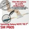 Samsung Galaxy SM-P605 NOTE C de Doré Nappe MicroUSB Pen Réparation Connecteur Charge SM Chargeur ORIGINAL P605 Qualité OFFICIELLE Contact