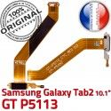 Samsung Galaxy GT-P5113 TAB2 Ch Contacts Chargeur Qualité MicroUSB Dorés TAB Nappe GT de P5113 Réparation OFFICIELLE ORIGINAL Charge Connecteur 2