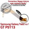 Samsung Galaxy GT-P5113 TAB2 Ch TAB Chargeur Nappe ORIGINAL Charge de Qualité P5113 OFFICIELLE GT Dorés MicroUSB 2 Connecteur Contacts Réparation