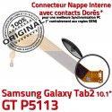 GT-P5113 Micro USB TAB2 Charge Nappe Chargeur Dorés Samsung OFFICIELLE GT Qualité MicroUSB P5113 Connecteur Réparation de Contacts TAB ORIGINAL Galaxy 2