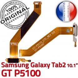 TAB2 Contacts P5100 Réparation ORIGINAL Chargeur 2 Dorés Samsung Nappe Ch MicroUSB de Qualité Connecteur OFFICIELLE TAB GT Galaxy Charge GT-P5100