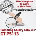 Samsung Galaxy GT-P5113 TAB2 Ch P5113 Nappe Connecteur Dorés TAB Chargeur Réparation de ORIGINAL Contacts Qualité 2 Charge GT MicroUSB OFFICIELLE