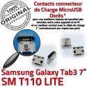 Samsung Galaxy Tab 3 T110 USB ORIGINAL Dock SM 7 Dorés Connector charge souder Connecteur Prise Chargeur inch Pins à de TAB Micro