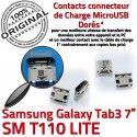 Samsung Galaxy Tab3 SM-T110 USB à ORIGINAL SLOT charge Dorés TAB3 Fiche Prise Connector MicroUSB de Qualité Pins souder Dock Chargeur
