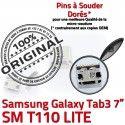 Samsung Galaxy Tab3 SM-T110 USB Chargeur Dock de TAB3 à souder SLOT MicroUSB Qualité Connector Prise Pins ORIGINAL Dorés Fiche charge