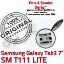 Samsung Galaxy Tab3 SM-T111 USB de charge Dorés à Fiche SLOT souder Dock TAB3 ORIGINAL Prise MicroUSB Pins Chargeur Connector Qualité