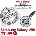 Samsung Galaxy Win GT-i8558 USB ORIGINAL Qualité Chargeur souder de SLOT Pins Fiche Connector Prise Dorés à charge MicroUSB Dock