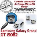 Samsung Galaxy i9082 USB souder Connecteur Qualité GT Dorés charge Prise de Chargeur Pins ORIGINAL Dock Grand Micro à Connector