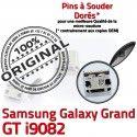 Samsung Galaxy GT-i9082 USB ORIGINAL Pins Dorés MicroUSB Chargeur souder Fiche Connector à Dock de Qualité Grand SLOT charge Prise