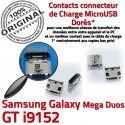 Samsung Galaxy GT-i9152 USB Duos charge Qualité Prise Chargeur Connector MicroUSB ORIGINAL de souder Mega à Fiche Dorés Pins Dock