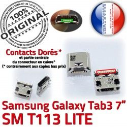 Connecteur Pins T113 à TAB 7 Galaxy Prise 3 de Samsung Connector charge Dorés Chargeur Dock souder SM USB Micro inch ORIGINAL Tab