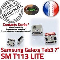 TAB3 Samsung charge SM-T113 Pins Qualité Chargeur ORIGINAL Prise Fiche Dock USB de Connector à souder MicroUSB Tab3 SLOT Dorés Galaxy