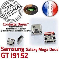 GT-i9152 Fiche Qualité Dorés souder Prise à charge Dock USB Galaxy ORIGINAL Mega Chargeur Pins de Connector Samsung MicroUSB Duos