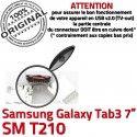 Samsung Galaxy Tab 3 T210 USB Connecteur Prise SM TAB ORIGINAL inch Pins Connector souder charge Dock à 7 de Dorés Chargeur Micro