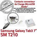 Samsung Galaxy Tab 3 T210 USB souder 7 Prise TAB à de Connecteur charge Chargeur Dorés inch Micro SM Pins ORIGINAL Dock Connector