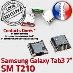 Samsung Dock Fiche MicroUSB Prise de ORIGINAL TAB3 Qualité charge USB SM-T210 Tab3 Chargeur Galaxy Pins souder Dorés à Connector SLOT