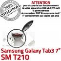 Samsung Galaxy Tab3 SM-T210 USB Dorés charge souder Chargeur MicroUSB SLOT ORIGINAL Dock Fiche Connector TAB3 Qualité Prise de à Pins
