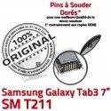 Samsung Galaxy Tab 3 T211 USB Connecteur ORIGINAL 7 à Prise Pins Chargeur charge Connector de Dock Micro inch TAB souder SM Dorés