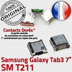 Pins charge Galaxy Fiche Prise SM-T211 Tab3 SLOT ORIGINAL souder de MicroUSB Dock Dorés Qualité TAB3 à Chargeur Samsung Connector USB