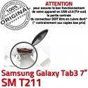 Samsung Galaxy Tab3 SM-T211 USB Prise ORIGINAL Qualité Connector Fiche charge Dock à souder SLOT de MicroUSB TAB3 Pins Dorés Chargeur