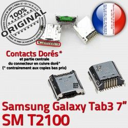 Dock USB Galaxy SM Tab souder Connecteur de 7 Samsung ORIGINAL Chargeur Pins inch T2100 Connector Dorés charge 3 à TAB Prise Micro