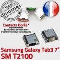 Samsung Galaxy Tab 3 T2100 USB souder ORIGINAL Connecteur charge Micro de Pins Chargeur Connector Prise TAB inch à Dock 7 Dorés SM