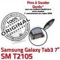 Samsung Galaxy Tab 3 T2105 USB Dock charge inch souder Prise SM Chargeur Micro de Dorés Connecteur à 7 TAB ORIGINAL Pins Connector