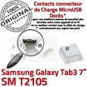 Samsung Galaxy Tab3 SM-T2105 USB de MicroUSB Chargeur à charge Fiche Dock SLOT TAB3 ORIGINAL Qualité Dorés souder Connector Pins Prise