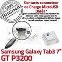 Samsung Galaxy Tab 3 P3200 USB 7 de ORIGINAL TAB souder Connecteur à Connector charge Micro Dock Pins GT Chargeur Prise Dorés inch