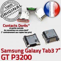 Fiche Chargeur Dock SLOT Pins ORIGINAL Qualité à MicroUSB Galaxy GT-P3200 Connector USB souder de Samsung Prise Dorés Tab3 TAB3 charge