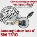 Samsung Galaxy SM-T310 TAB3 Ch Connecteur 3 Charge de OFFICIELLE T310 Contacts Réparation Chargeur TAB ORIGINAL SM Qualité Nappe Dorés MicroUSB