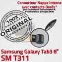 Samsung Galaxy TAB 3 SM-T311 Ch Charge OFFICIELLE MicroUSB Nappe Contacts Dorés de Chargeur Connecteur Réparation Qualité ORIGINAL TAB3