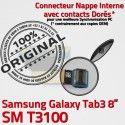 Samsung Galaxy SM-T3100 TAB3 Ch de Contacts Nappe Réparation SM MicroUSB OFFICIELLE 3 T3100 Charge Connecteur Chargeur Qualité TAB Dorés ORIGINAL