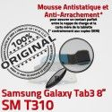 Samsung Galaxy TAB 3 SM-T310 Ch Chargeur Contacts ORIGINAL de OFFICIELLE MicroUSB Réparation Dorés TAB3 Qualité Connecteur Charge Nappe