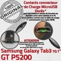 Samsung Galaxy TAB 3 GT-P5200 Ch Contacts de ORIGINAL Connecteur Dorés Réparation Nappe Chargeur Charge TAB3 MicroUSB Qualité OFFICIELLE