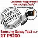 Samsung Galaxy TAB 3 GT-P5200 Ch ORIGINAL Contacts MicroUSB Dorés Nappe OFFICIELLE Connecteur Charge TAB3 Qualité Réparation Chargeur de