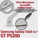 GT-P5200 Micro USB TAB3 Charge Dorés P5200 Samsung TAB Réparation Connecteur Chargeur GT Nappe Qualité OFFICIELLE ORIGINAL de MicroUSB 3 Galaxy Contacts