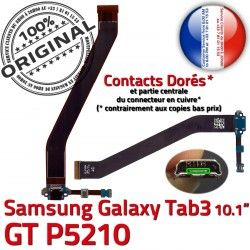 P5210 OFFICIELLE Connecteur TAB Contacts Qualité ORIGINAL 3 Charge GT Nappe Réparation Micro Dorés de USB Samsung Chargeur MicroUSB TAB3 Galaxy GT-P5210