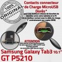 GT-P5210 Micro USB TAB3 Charge Qualité 3 P5210 Samsung Contacts ORIGINAL Dorés Connecteur TAB Chargeur Réparation Galaxy de Nappe OFFICIELLE MicroUSB GT