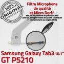 GT-P5210 Micro USB TAB3 Charge Nappe TAB Chargeur Contacts Samsung Qualité OFFICIELLE Réparation P5210 ORIGINAL Dorés Connecteur 3 de GT MicroUSB Galaxy